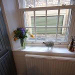 Holiday cottage kitchen window